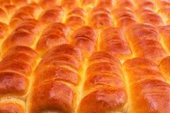 被烘烤的物品-松饼红润开胃特写镜头 库存图片