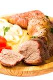 被烘烤的猪里脊肉 库存图片