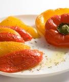 被烘烤的甜椒沙拉 库存图片