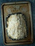 被烘烤的盐外壳鸡 图库摄影