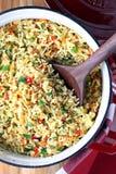 被烘烤的米肉饭 免版税库存图片