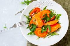 被烘烤的红萝卜简单的沙拉  库存图片