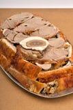 被烘烤的羊羔肉 免版税库存图片