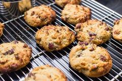 被烘烤的莓曲奇饼 免版税库存照片