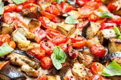 被烘烤的蔬菜 库存照片