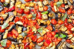 被烘烤的蔬菜 库存图片