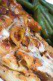 被烘烤的豆绿色意大利通心面 库存图片