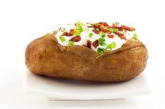 被烘烤的赤褐色土豆 库存照片