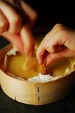 被烘烤的软制乳酪干酪 免版税库存图片