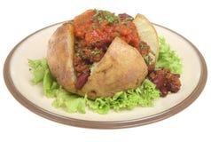 被烘烤的辣椒土豆辣调味汁 免版税图库摄影