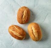 被烘烤的面包小圆面包新近地 免版税库存照片