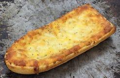 被烘烤的面包干酪法语新近地薄饼 免版税库存照片