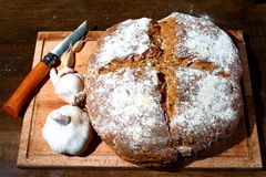 被烘烤的面包新近地 免版税图库摄影