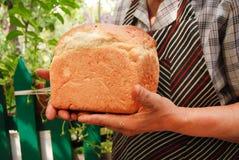 被烘烤的面包最近 库存照片