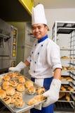 被烘烤的面包甜点 免版税库存照片