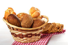 被烘烤的面包的分类 免版税库存图片