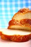 被烘烤的面包鸡蛋面包甜点 免版税库存照片