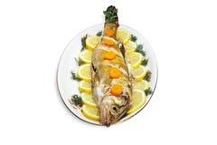 被烘烤的鱼 免版税库存照片