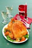 被烘烤的鸡用胡椒 免版税库存照片