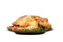 被烘烤的鸡 库存图片