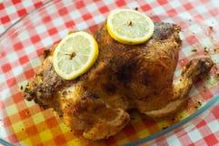 被烘烤的鸡 免版税图库摄影