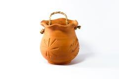 被烘烤的黏土瓶子 免版税图库摄影
