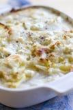 山羊乳干酪土豆焦干酪 库存图片