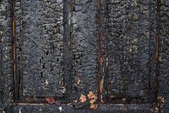 被烧焦的墙壁作为背景 免版税库存图片