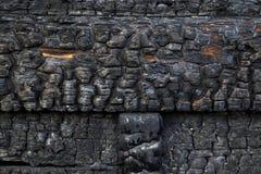 被烧焦的墙壁作为背景 库存图片