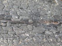 被烧焦的木头背景  免版税库存照片
