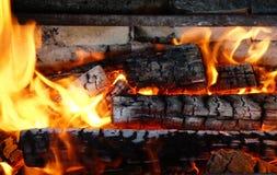 被烧焦的木头 免版税库存照片