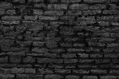 被烧焦的老灰色砖墙纹理  免版税库存图片