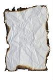 被烧焦的边缘纸张 免版税库存图片