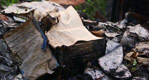 被烧的书 免版税图库摄影