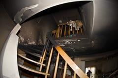 被烧的公寓 免版税库存图片