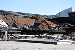 被烧的大厦 免版税库存照片