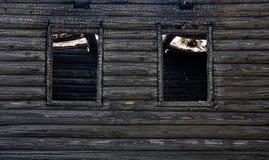 被烧的小屋 库存照片