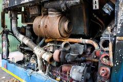 被烧的引擎 库存照片