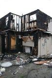 被烧的房子 免版税库存照片