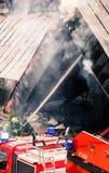被烧的旅馆小辈,斯洛伐克 库存图片