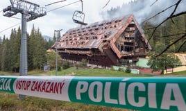 被烧的旅馆小辈,斯洛伐克 免版税库存图片