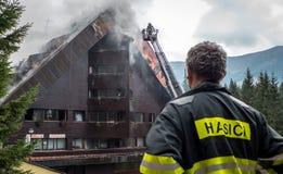 被烧的旅馆小辈,斯洛伐克 免版税图库摄影