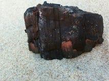 被烧的注册沙子海滩 库存图片