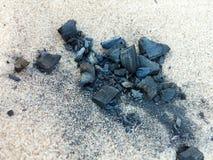 被烧的注册沙子海滩 免版税图库摄影