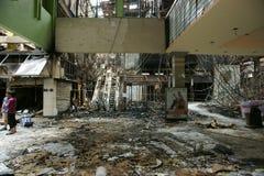 被烧的泰国方形剧院 库存图片