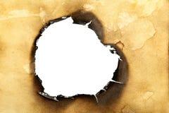 被烧的漏洞 免版税库存图片