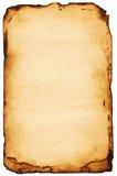 被烧的纸张 免版税库存图片