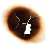 被烧的纸张 图库摄影