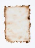 被烧的羊皮纸 库存图片