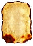 被烧的老纸张 库存照片